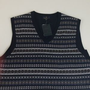 Brooks Brothers Merino Wool Sweater Vest Mens XL